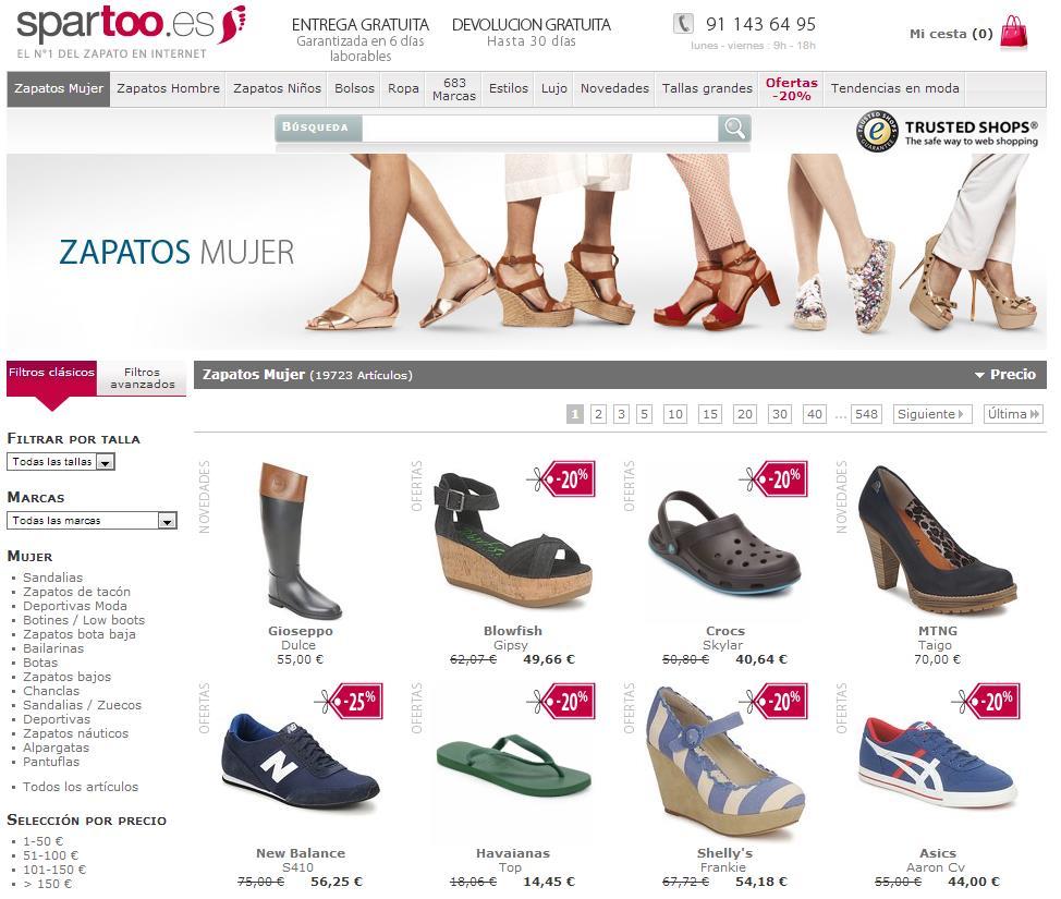 Zapatos de marca baratos online