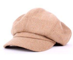 Gorra plana de lana