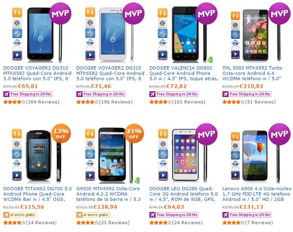 Páginas chinas para comprar móviles baratos - DealExtreme