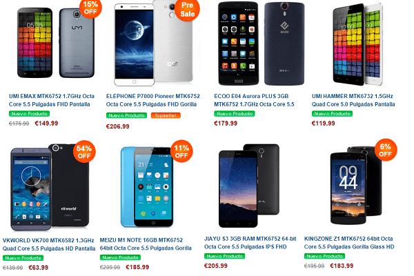 Páginas chinas para comprar móviles baratos - Myefox