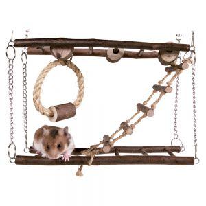 Puente de madera para hamster