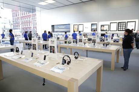 Interior de una de las Apple Store