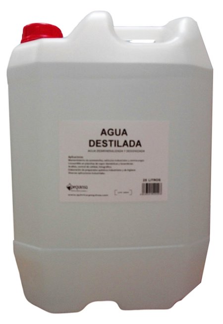 agua destilada desionizada