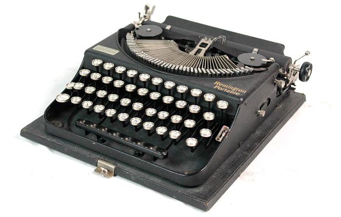 máquina de escribir antigua barata